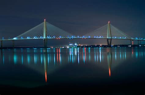 Night-arthur-ravenel-bridge Photos, South Carolina Sc