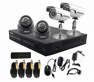 Camera De Surveillance Interieur : kit de vid o surveillance dvr 4 canaux avec enregistreur ~ Carolinahurricanesstore.com Idées de Décoration
