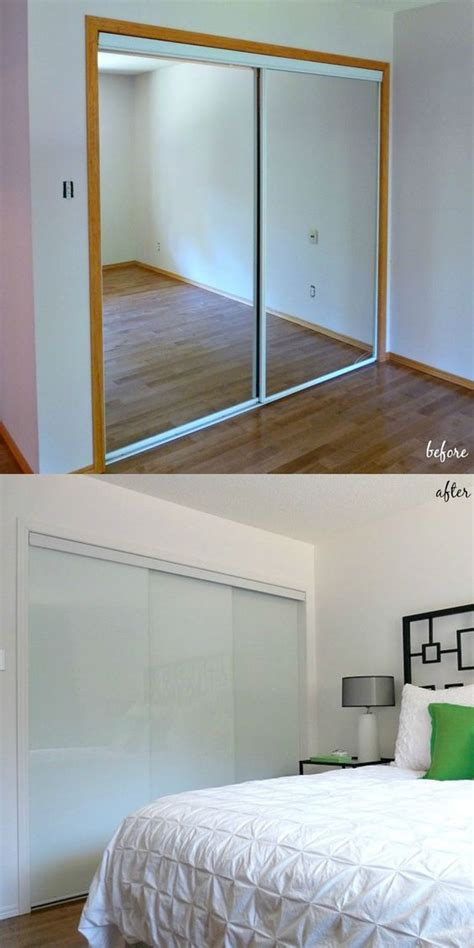 Replacing Mirrored Closet Doors by See How Replacing Broken Mirrored Closet Doors With Modern