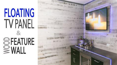 diy mancave renovation floating tv wall ikea cabinets