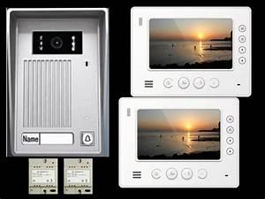 Türklingel Mit Kamera : video t rsprechanlage vt35 2x vt810 alu design plexiglas tft ~ Eleganceandgraceweddings.com Haus und Dekorationen