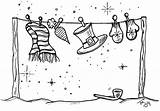 Disney Coloring Christmas Pages Clothesline Card Cruise Dream Drawing Line sketch template