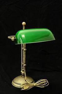Lampe Für Bilder : bankerlampe schreibtischlampe messing mit gr nem ~ Lateststills.com Haus und Dekorationen