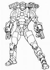 Coloring Ironman Pages sketch template