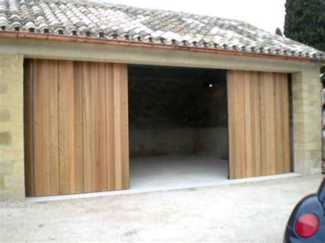 porte de garage lat 233 rale coulissante bois automatique sodelec