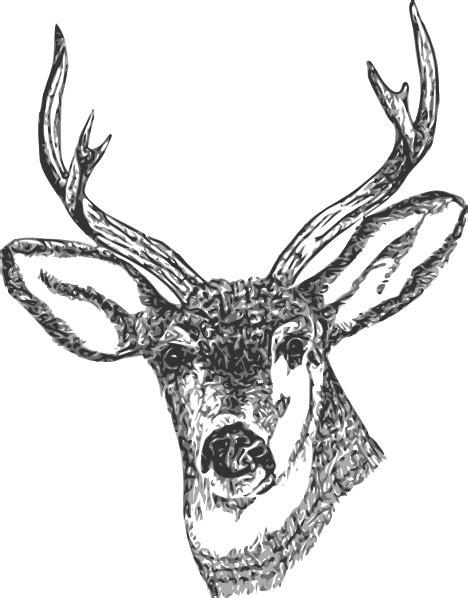 Deer Head Clip Art at Clker.com - vector clip art online