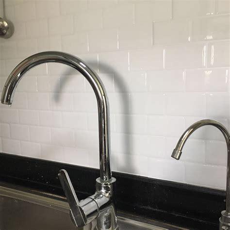 kitchen backsplash tile peel and stick white brick subway