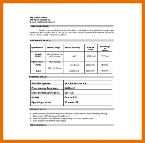 6 7 resume format word sowtemplate