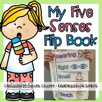five senses flip book by kindergarten smiles caitlin 714 | original 2650458 1