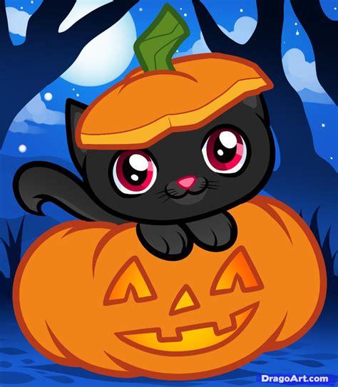 draw  halloween cat halloween cat step  step