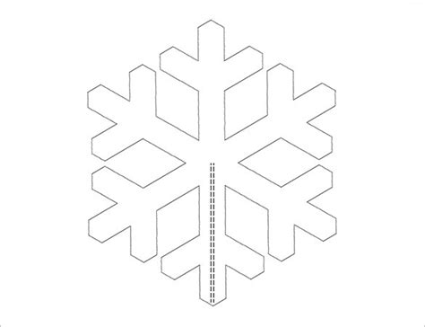 free snowflake template snowflake templates 49 free word pdf jpeg png format