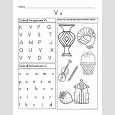 5 Letter V Worksheets  Alphabet & Phonics Worksheets  Letter Of The Week
