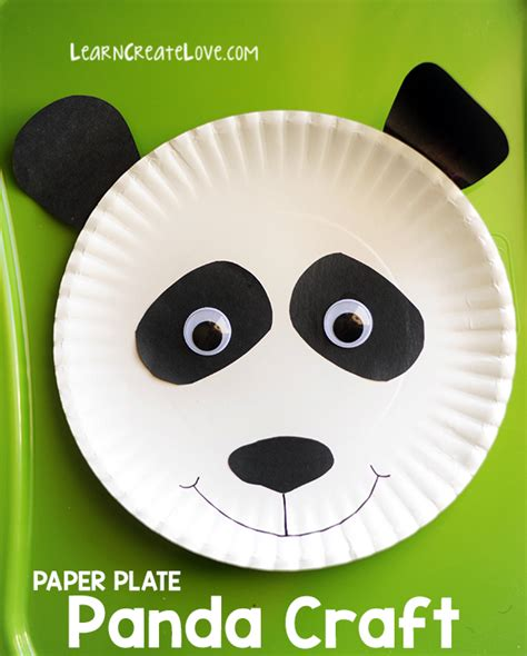 panda crafts for preschoolers paper plate panda craft 496