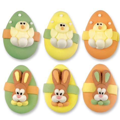 assorted easter egg cupcake toppers