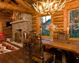 log home interior design beautiful log cabin dining rooms