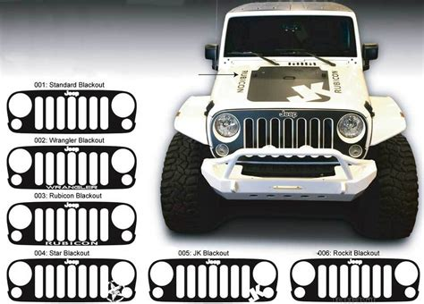 jeep grill decal jeep decal stickers kamos sticker