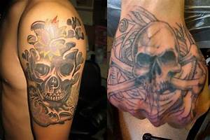 Men Shoulder Skull Tattoo