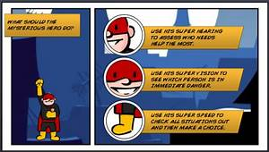 have you seen these comic book style e learning examples With comic book template powerpoint