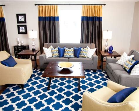 Blue Yellow And Beige Living Room by Blue Grey Yellow Home Design Ideas Pictures Remodel And