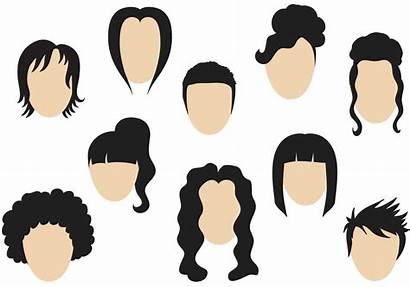 Hairstyle Vectors Hair Vector Clipart Graphics Icon