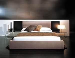 Bett Mit Niedrigem Kopfteil : sch ne betten f rs moderne schlafzimmer 25 designs ~ A.2002-acura-tl-radio.info Haus und Dekorationen
