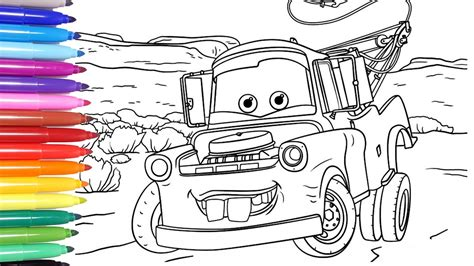 DISNEY CARS 3 Disney Cars Coloring Pages Learn Colors for