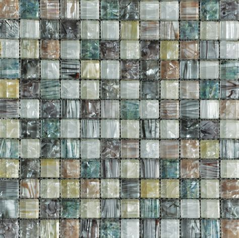 Tesoro Multi Color Glass Mosaic Sheet From PEARLESQUE HomeThangs.com Modern Tile by