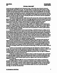 genetic modified food essay creative writing elements of a