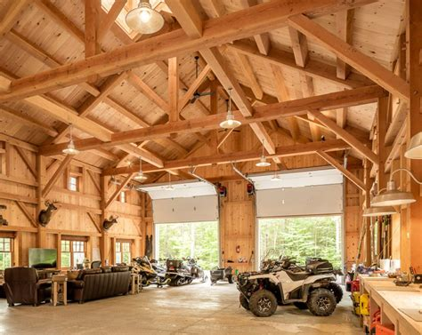 houses  barns maine mountainside timber frame barn