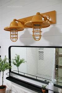 Barn light electric farmhouse bathroom vanity lights for Barn lights for bathroom