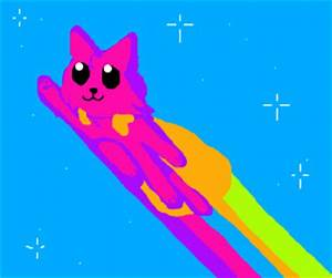 Nyan Cat be es a superhero Neon Cat