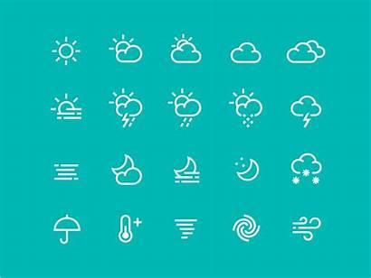 Weather Icons Icon Pack Dribbble Ico Rain