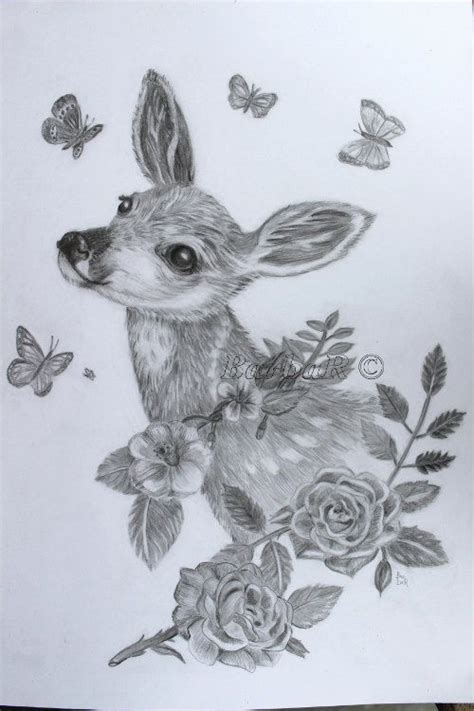 realistic baby animal sketches