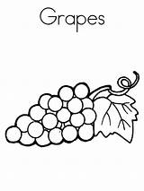 Coloring Pages Grape Fruits Grapes Recommended Colors sketch template