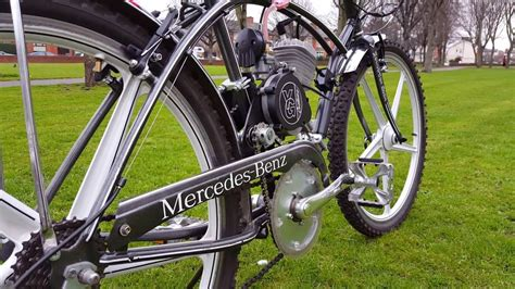 mercedes bicycle mercedes benz push bike engine youtube