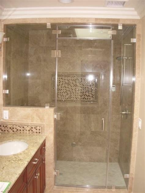 Tilting Bathroom Wall Mirrors by Steam Shower Door Traditional Bathroom Los Angeles