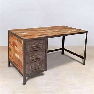 Bureau Vintage Pas Cher : meubles teck recycle pas cher meubles de design d 39 inspiration pour la t l vision ~ Teatrodelosmanantiales.com Idées de Décoration