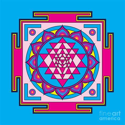 Yantra Mantra sri yantra mandala digital by galactic mantra