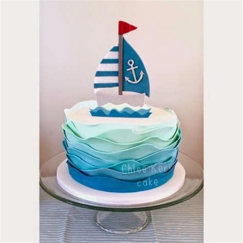 Sailing Boat Cake by Chloe Kerr Cake Baby Boy Sail Boat Cake