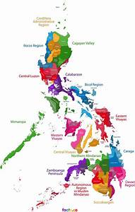 Philippines Map - blank political Philippines map with cities