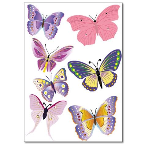 Fliesenaufkleber Schmetterling by Fliesenaufkleber Set A4 Bunte Schmetterlinge