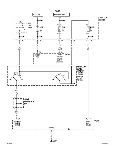 do you a wiring diagram for a 2002 dodge dakota radio