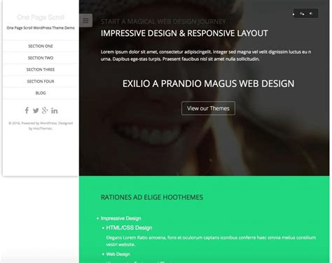 One Page Theme 15 Best Free One Page Themes 2016 Themegrill