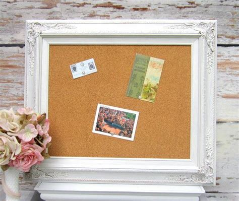 kitchen memo board organizer frame corkboard decorative memo board white shabby chic 5403