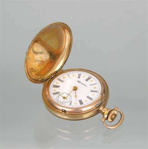 A Tri-Color Hampden Pocket Watch with Molly Stark Movement