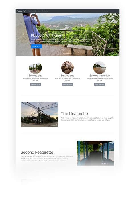 bootstrap  wordpress theme flaboot wp graphicit