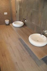 53 best ideas about salle de bain on pinterest vanities With carrelage imitation parquet pour salle de bain