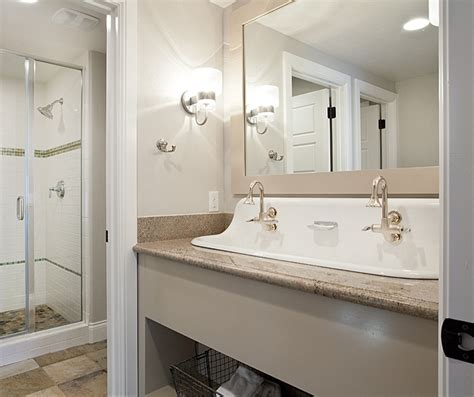 trough bathroom sink trough sink transitional bathroom jaffa