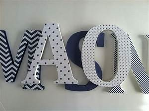 wooden letters for nursery in navy blue With navy blue wooden letters