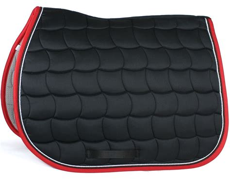 tapis equitation noir  rouge